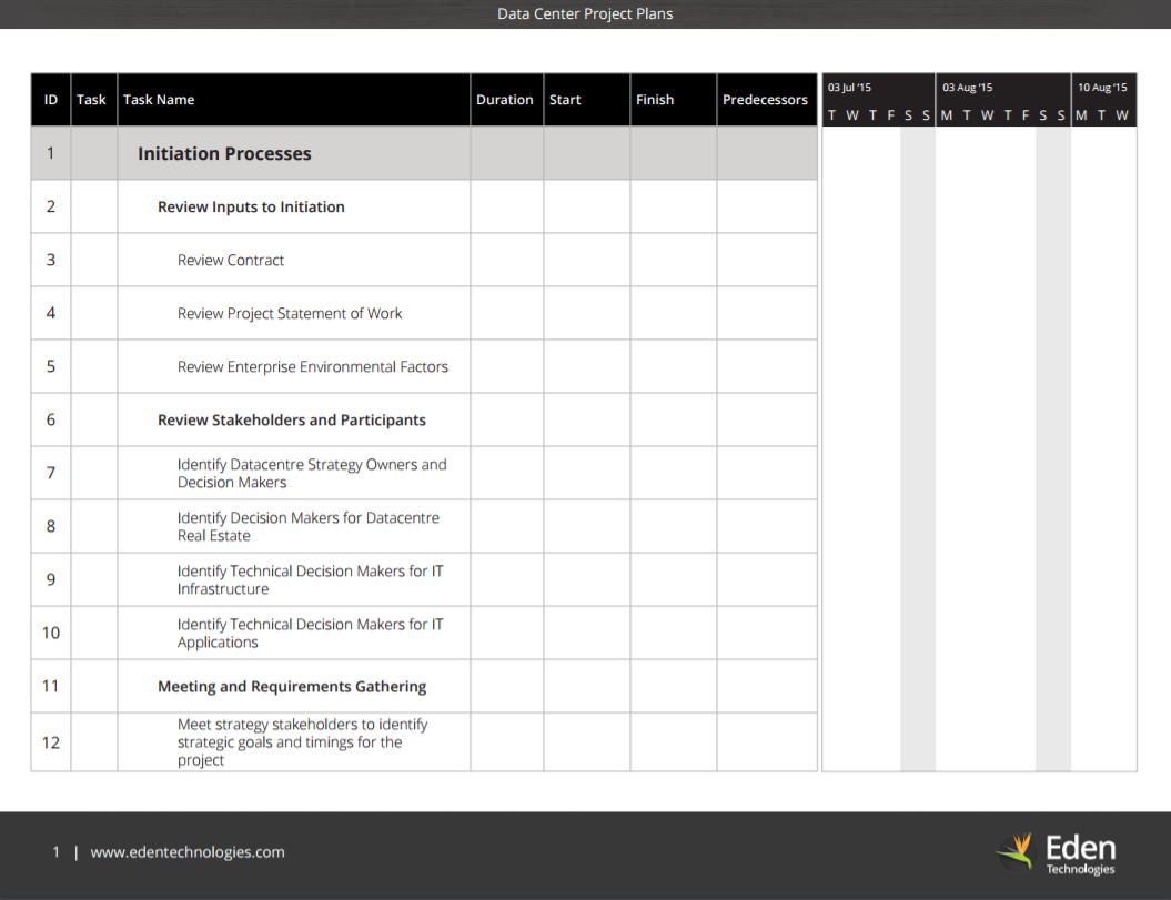 Data-Center-Project-Plan